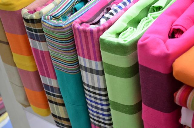 barevné bavlněné povlečení