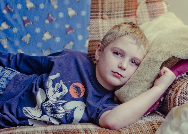 nemocný kluk