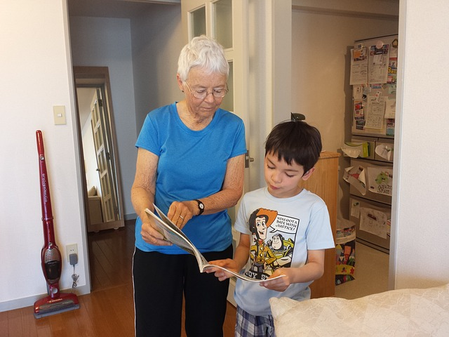 babička s vnukem