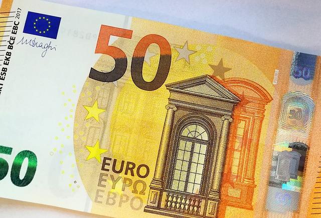 bankovka 50 euro