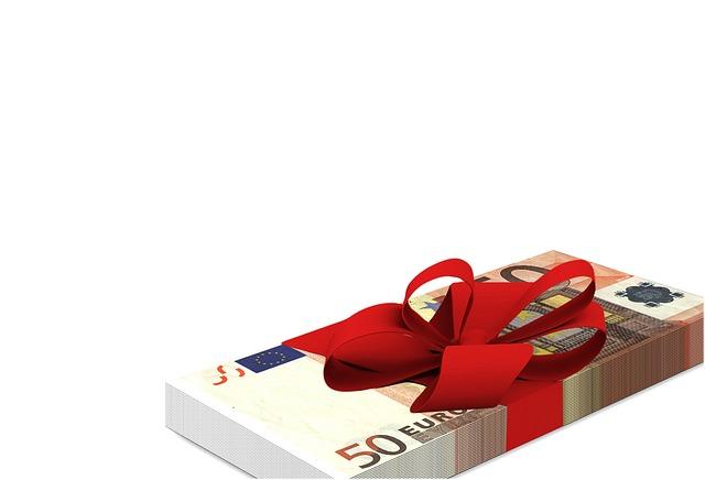 peněžní dárek